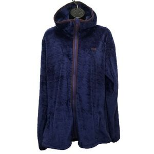Helly Hansen Plush Purple Embossed Pattern Zip Up